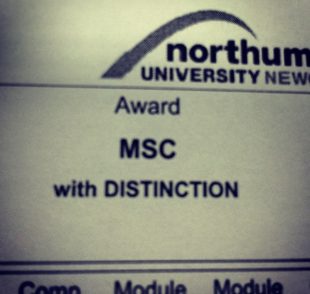 MSc with Distinction
